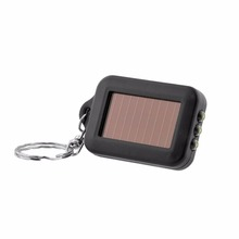 Outdoor Rechargeable Mini Portable Solar Power Black Energy 3LED Light Lamp Keychain Keyring Torch Flash Flashlight Key Ring kit