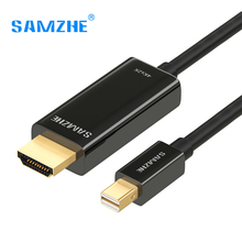SAMZHE Mini Displayport to HDMI Cable Adapter Mini DP to HDMI Converter Cable Thunderbolt to HDMI Cable Adapter 4K(China)