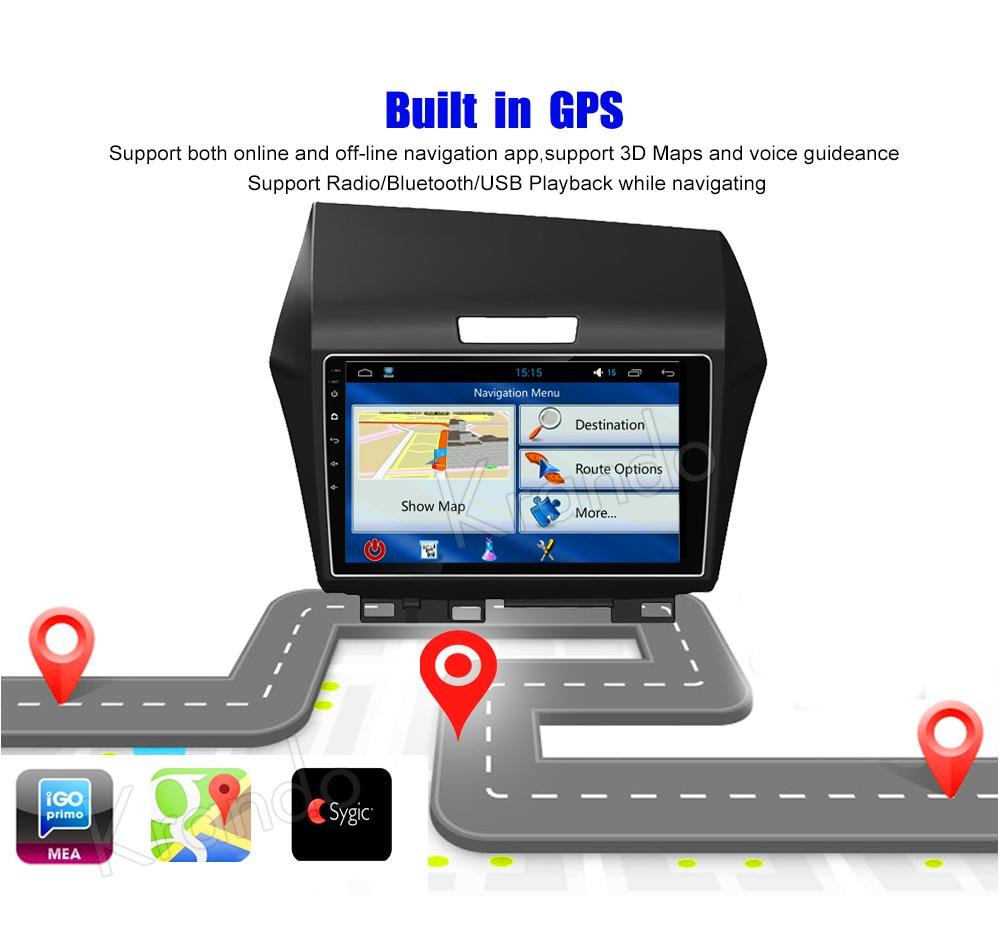 Krando Android car radio gps navigation multimedia system for Honda Jade 2013 (7)