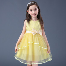 Princess dress girls lace kids wedding gowns summer baby clothes fashion elegant for party 5-15years old cheap and free delivery
