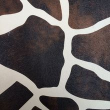 synthetic PVC black and white milch cow skin imitation printed leather material(China)