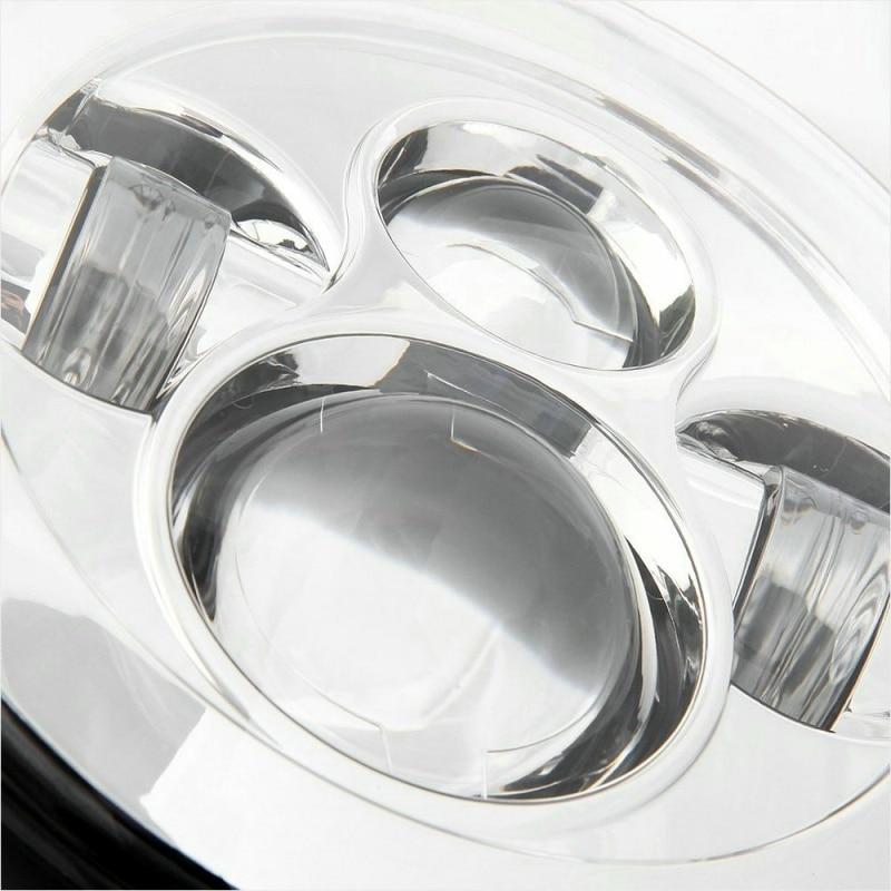 FADUIES Black 7 inch LED Headlight 40W H4 High low Beam For Jeep Wrangler JK 2 Door 4 Door LandRover Defender Headlamp (4)