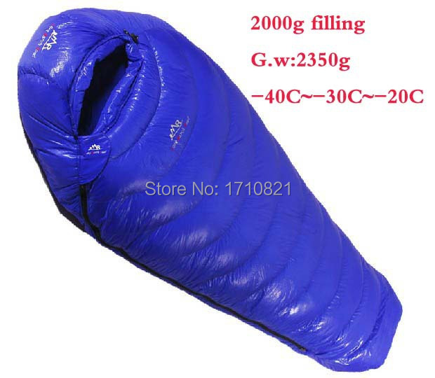 Duck down 2000g Filling -40C~-20C! Ultra-light down outdoor duck down outdoor adult breathable thickening sleeping bag<br><br>Aliexpress