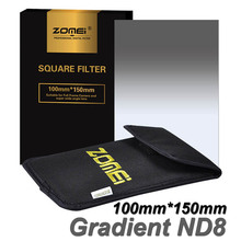 "Zomei Gradual Grey ND8 Square Filter Neutral Density Graduated Filter 100x150mm for Cokin Z-PRO Hitech Lee 4x4"" Holder 100*150mm"