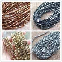 "2x3mm Natural Hematite Very Shining Faceted Square Beads"" BeadsFor DIY Jewelry Making !We provide mixed wholesale for all items!"