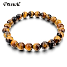 2016 Tiger Eye Bracelets Bangles Elastic Rope Chain Natural Stone Bracelets Women and Men Jewelry SBR140389