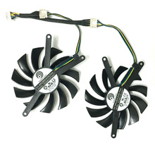 2 pcs/lot Power Logic 75mm 4Pin 12V 0.35A PLD08010S12HH Graphics Card Cooler fan for GTX 460 2WIN GTX 560 TI cooling(China)