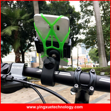 360 Rotation Universal Bicycle Handlebar Mount Bike Mount Phone Grip Holder Stand with Security Rubber Band for All Cell Phones(China)
