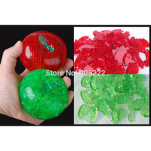 Adult Kids 3D Crystal Jigsaw Puzzle Jigsaw Model fruit: 44pcs Children's Educational Toys