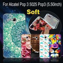 "CaseRiver Soft Silicone Cell Phone Case For Alcatel One Touch Pop 3 5.5 5025D 5025 Case Cover For Alcatel Pop3 5.5"" 5025 D Cases(China)"