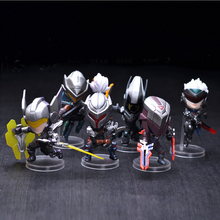 6pc/set 8cm PVC Cool Fashional Game Aciton Figures Zed Yasuo Lucian Master Yi Fiora Leona Q Version Doll Game figure Toys Jinx