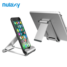 Nulaxy Aluminium Alloy Holder For Phone Adjustable Hinge Foldable Desk Mobile Phone Holder Tablet Stand Desktop Holder Mount(China)