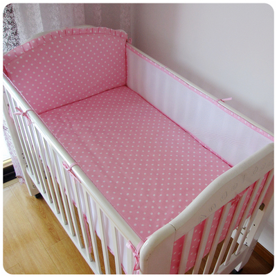 Promotion! 5PCS Cot Crib Bedding Set Boys Girls Cot Bedclothes Infant bedclothes,include:(4bumper+sheet)<br>