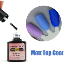 Charm Chica Matte Top Coat UV Gel Nail Polish Professional Salon Nail Gel Transparent Lacquer Varnish For Black Punk Style Nails