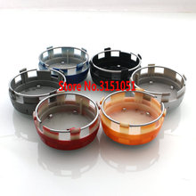 4Pcs 75mm Gray / Black / Red / Silver/Blue/Orange Car Wheel Center Caps Emblem Wheel Cover Hub Rims Cap Badges for MERCEDES(China)