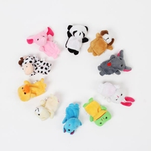 Baby Children Kids Favor Plush Animal Finger Biological Play Story Tale Toys Dolls 10Pcs/lot Stuffed Doll Toy Gifts