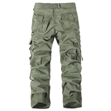 Fashion Casual Men Pants Brand New Designer Cargo Pants Mens Trousers 100% Cotton Military Multi Pockets Work Pant Plus Size 40