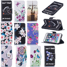 Fashion Pattern Wallet Case Flip Leather Cover Card Slot For Apple iPhone 7 7 plus / 6 6 plus/ 6s 6s plus/ 5 5s Se / itouch 6(China)