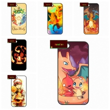 Super Flexible Charmander Pokemons Case for iphone 4 4s 5 5s 5c 6 6s plus samsung galaxy S3 S4 mini S5 S6 Note 2 3 4  S0398