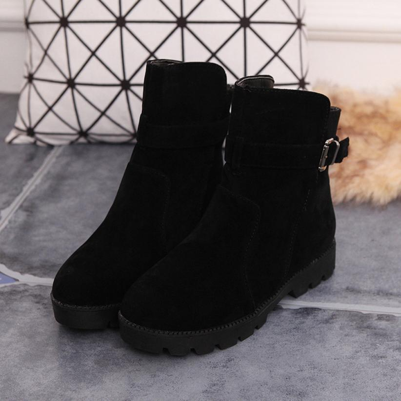 Women Winter Warm Snow Ankle Boots Buckle Match Solid Martin Boots Shoes Best Gift Drop Shipping Dec29<br><br>Aliexpress