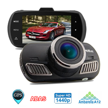 Mini Car Dvr Ambarella A12 Chip FULL HD 1440P 30fps 2.7inch Screen Car Video Recorder Dash Camera With G-sensor ADAS GPS TRACKER