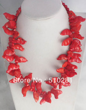 Free Shipping !!! Best Hotsale !!! Birthday Holiday Party jewelry  Fashion red coral  necklace