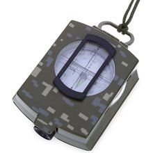 Multifunction Military Compass Digital Display Waterproof Alloy Compass Geology Pocket Prismatic Compass Oxford Pouch Hanging