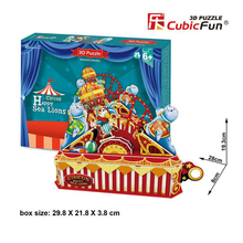 Cubicfun 3D Paper Puzzle Toy DIY Circus Happy Sea Lions Model Assembled Paperboard Cartoon Puzzles Toys For Children Brinquedos(China)