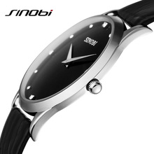 Super slim Casual Diamond Clock Male Man Dress Watches Business Leather Strap Quartz Wristwatch 2015 SINOBI Relogio Masculino