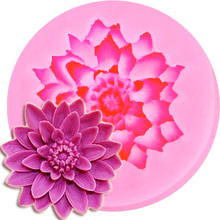 M091 Lotus Shape Chocolate Candy Jello 3D Silicone Mold Cartoon Figre/Cake Tools Soap Mold Sugar Craft Cake Decoration