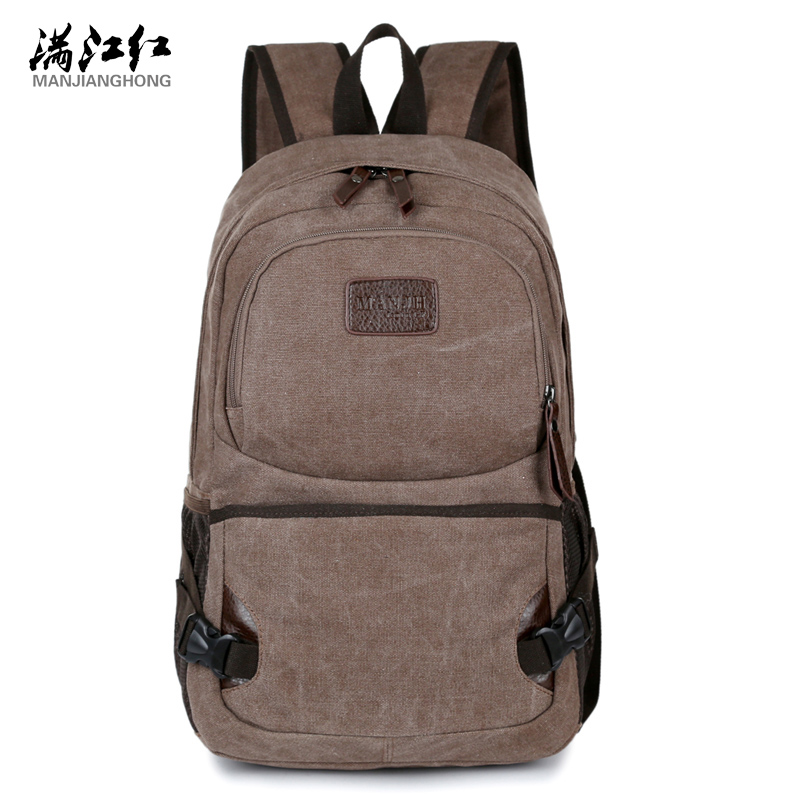 Manjinghong Store New Arrival Korean Casual Male Bag School Bag Bag Man's 100% Cotton Canvas Mochila Backpack Bag 1321(China (Mainland))