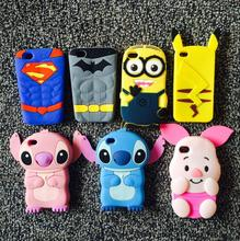 Cute 3D Cartoon bear stitch PHONE Case Soft Silicone Back Cover For Apple iphone 4 4S unicorn PIG Coque Capa for iphone 4G CAPA