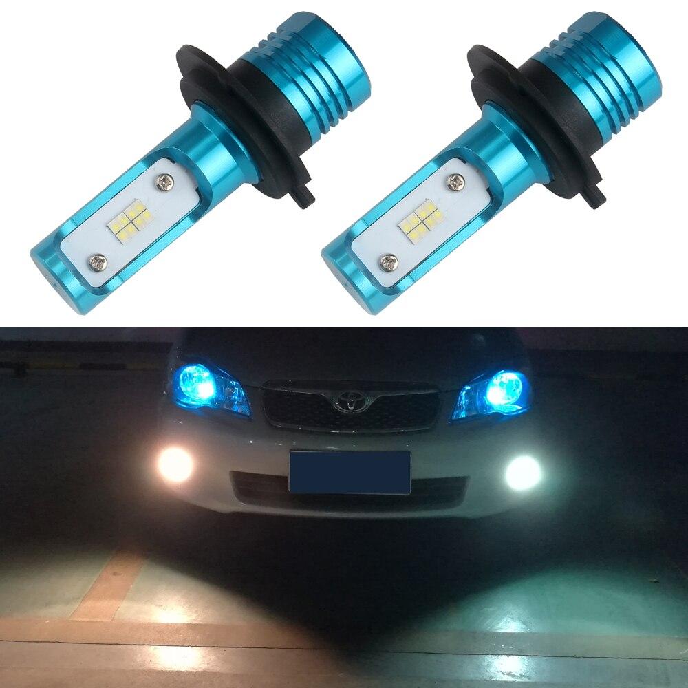 Senzeal 2x New Arrivals 80W 1200LM H7 LED Fog Light Bulb 12V High Performance Chip Daytime Running Lights H7 Driving Lamps White<br><br>Aliexpress