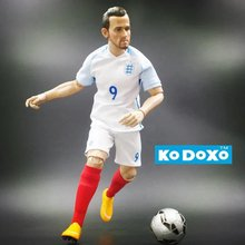 Soccer Star 1/6 PVC 30 cm Height 9 Harry Kane Figure ( England 2016 Eu Cup ) White Fans Christmas Gift DHL(China)