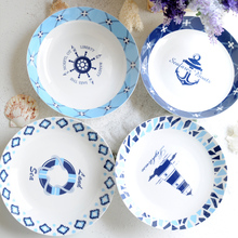 OUSSIRRO Bone China Round Dish Plate Home Ceramic Creative Steak Western Dinner Tray Deep Soup Plate Can Put In Microwave