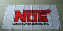 NOS flag, Nitrous Oxide System banner,90X150CM size,100% polyster(China)