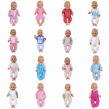 Doll Jump Suits Fit For 43cm Baby Born Zapf Doll Reborn Baby Clothes(China)