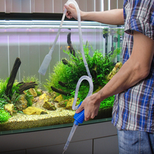 aquarium Fish Tank Changing Water Pipe Suction Device 165cm Water Pumping Tube Clean Tool Suction Device Washing Sand Tube