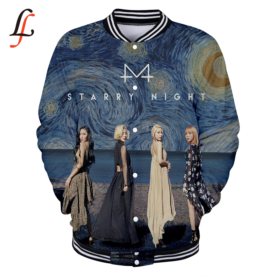 MAMAMOO 3d Print Casual Baseball jacket New Fashion Cool Highstreet New Arrival Long Sleeve Casual Sweatshirt