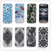 Soft Gel TPU Flower Back Cover For IPhone 5 5G For Iphone5 Of Free Shipping TPU Silicone