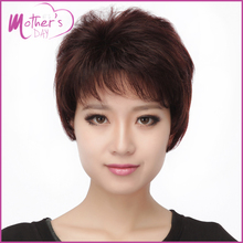 real hair wigs Young Mother Gift Korean Wigs Hairstyles 100% High Quality Short  Huamn  Hair Cancer Wigs for Women Peruca