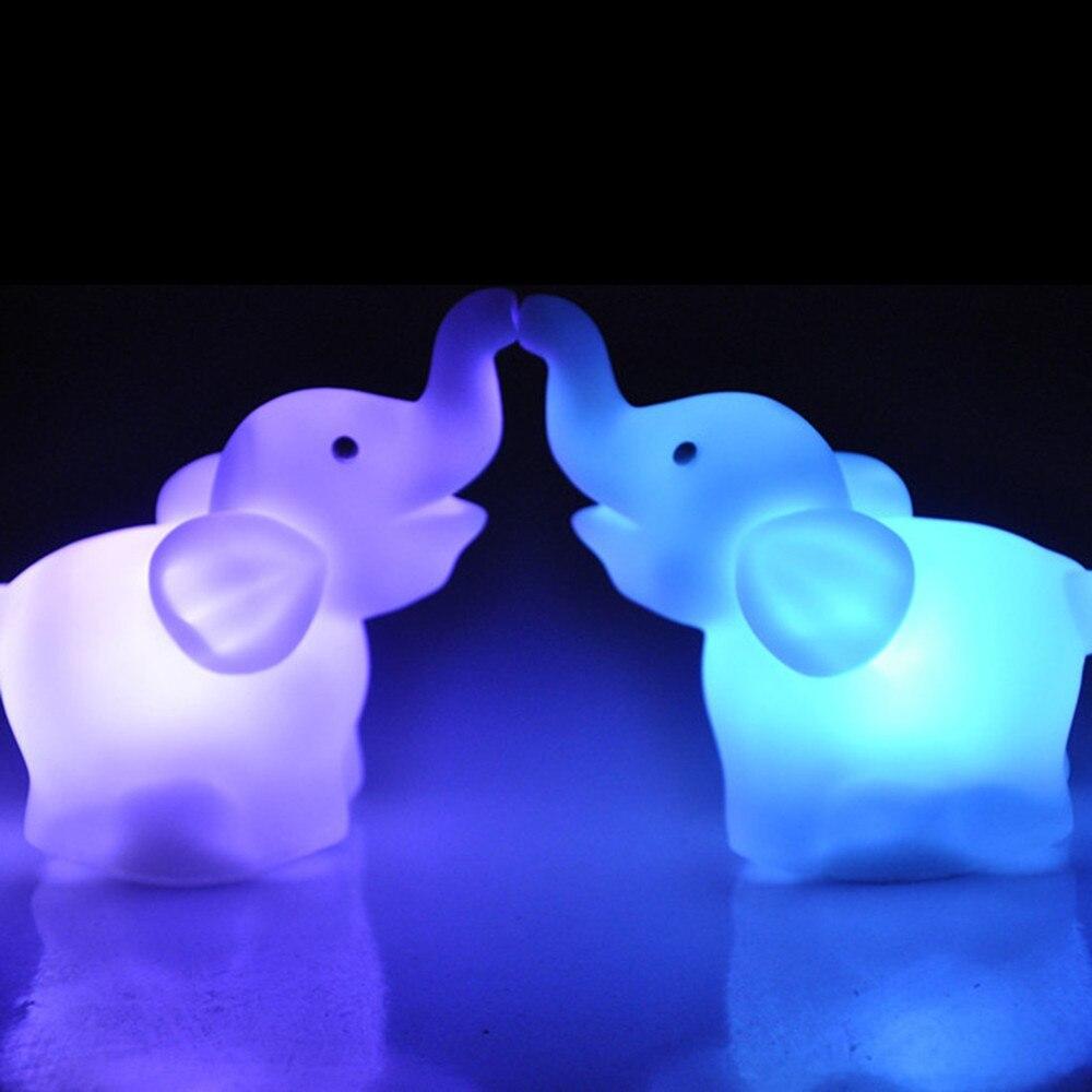 SuperNight Cute Elephant LED Night Light Colorful Cartoon Animal Baby Kids Bedroom Bedside Table Lamp Wedding Home Decoration  (3)