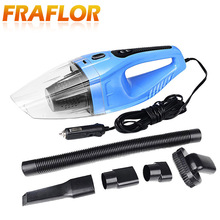 120W Portable Car Vacuum Cleaner Wet And Dry Dual Use Auto Cigarette Lighter Hepa Filter 12V Black Blue & Orange Optional