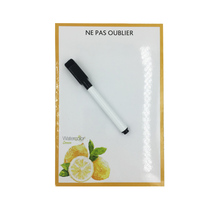 Fruit Referigerator Magnet with Free Pen Flexible Message board For Fridge White board as Memo Pad Fridge Magnetic Note
