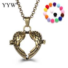 YYW Wing & Heart Shape Perfume Aromatherapy Pendant Essential Oil Diffuser Pregnant Ball Locket Cage Pendant Women's Gift