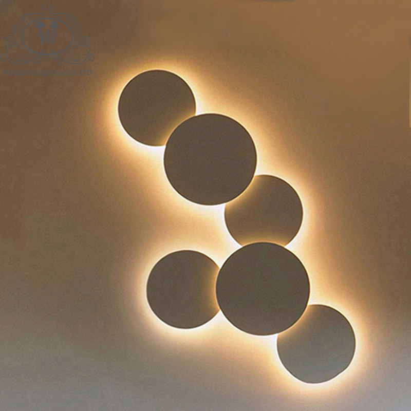NOOSION Art Deco Wall Lamp for Stairs Living Room LED Circle Wall Light Loft Fixtures Luminaire Mural Aplique Luz Pared Arandela<br>