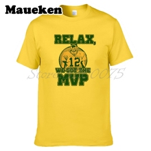 Men Relax we got the MVP 12 Aaron Rodgers Green Bay T-shirt Clothes Packers T Shirt Men's for fans gift o-neck tee W0315007(China)