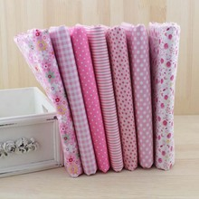 New arrival 50X50cm 7 Assorted pink series 100% Cotton Pre Cut quilting patchwork fabric