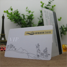 50Pcs 85.5*54*0.76mm Wholesale High Quality full printing pvc/plastic blank magnetic gift cards/pvc magnetic stripe card printer