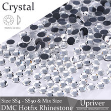 SS4-SS50 Clear Crystal  Flat Back Strass DMC Hot Fix Rhinestones For Nail Art Decorations Dresses Crystal Stones